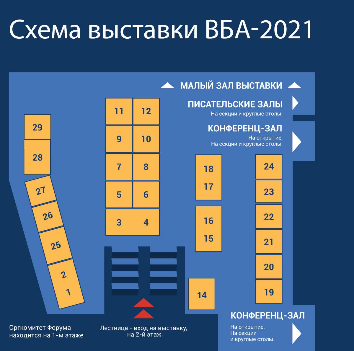 Схема выставки